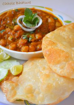 Tasty Appetite: Chole Bhature / Punjabi Bhature Recipe / step by step