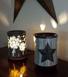 Which one do you like better??  I can't decide if I like June's Warmer of the Month (Lone Star) or July's WOTM (Dandy Wish) better! I love them both! Lone Star is 10% off right now... Dandy Wish will be available at 10% off in July! www.jenniferfry.scentsy.ca/Buy/Category/2523