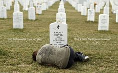 Lesleigh Coyer of saginaw, michigan lies down in front of the grave of her brother, ryan coyer, who served with the united states army in both Iraq and afghanistan at arlington national cemetery in virginia on march I Love You Means, Spiegel Online, Afghanistan War, Iraq War, National Cemetery, Support Our Troops, John Kennedy, Iconic Photos, We Are The World