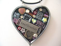Heartbreaker Mosaic Pendant by juliespace, via Flickr