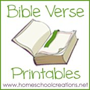 "Bible Verse Printables...FREE Bible verse printables for children to use while learning verses. The printables include an 8 1/2"" x 11"" page, cut-apart verse strips, and also 4"" x 6"" cards."
