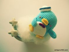 After Molang im making TuxedoSam! sanrio blue penguin amigurumei crochet