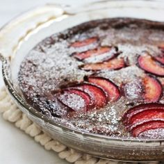Gingerbread Plum Clafoutis Made with coconut milk!  for all your fancy/low-maintenance fall dessert needs!