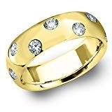 Eternity Wedding Bands LLC Yellow Gold Etoile Diamond Ring cttw, F-G Color, Clarity) Size Total Carat Round Brilliant Cut Oxford Booties, Women's Oxfords, Eternity Ring Diamond, Round Cut Diamond, Wedding Bands, Clarity, Engagement Rings, Yellow, My Style