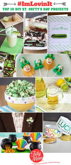 St. Patrick's day recipes, crafts, and ideas.