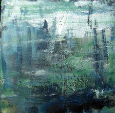 """Saatchi Online Artist: Małgorzata Majerczyk-Sieczka; Oil, 2011, Painting """"three colors-blue"""""""