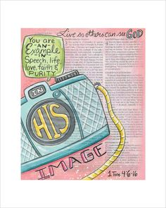 In His Image Bible Journaling Art Print by ruthonesixteen on Etsy