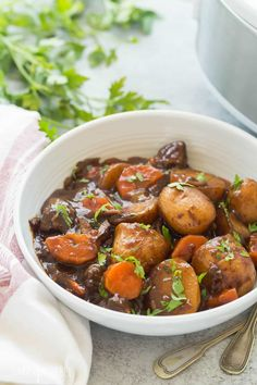 Honey Balsamic Slow Cooker Beef Stew - The Little Potato Company