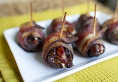 bacon wrapped, appet, dates, pecan stuf, thanksgiving foods