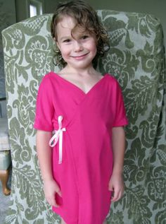 Hospital gowns for child - free pattern linked!