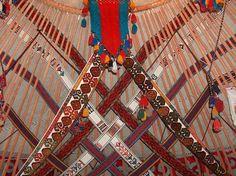 Ornaments in a Kazakh yurt. Kazakhstan (V)