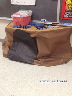 Long Time No Post - New Activities too - bear cave in the classroom