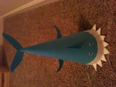 Cute Shark Paper Party Hat! Perfect for lil' boys party's!!!