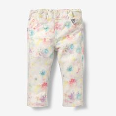 Straight cut floral print trousers R Baby | La Redoute