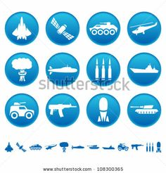 Military icons by banderlog, via ShutterStock