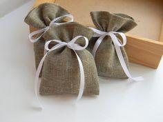 SET OF 50 Rustic Linen Wedding Favors Bags by WeddingForYou, $70.00