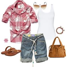 Hillbilly Chic - Polyvore Cute Girl Outfits, Cute Summer Outfits, Pretty Outfits, Spring Outfits, Cool Outfits, Casual Outfits, Fashion Outfits, Womens Fashion, Fasion