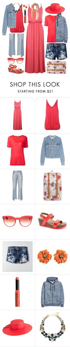 """road trip style"" by nosleeptilbrooklyn ❤ liked on Polyvore featuring IRO, Acne Studios, AG Adriano Goldschmied, Herschel, Oliver Peoples, SoftWalk, American Eagle Outfitters, NYX, Peter Grimm and BCBGMAXAZRIA"