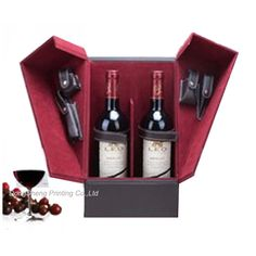 Luxury Wooden Liquor Gift Box for Red Wine Packaging