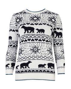 Fair Isle sweater - Dark Blue | New Arrivals | Ted Baker