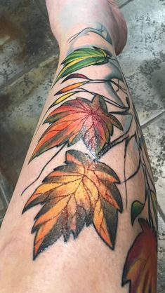 #tattooleaves #fallleaves