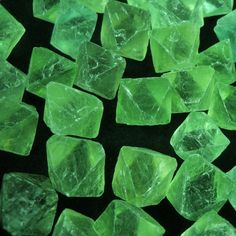 3/4 Green Fluorite octahedrons crystals natural by EvasFeathers