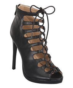 Loving this Step Up Shoes Black Vivi Sandal on #zulily! #zulilyfinds