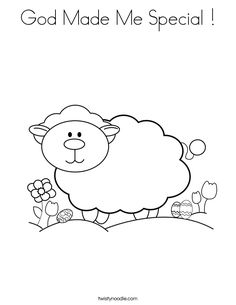 God made me coloring page | Home Bible Lessons | Pinterest ...