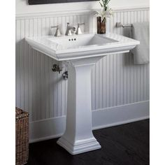 Foremost Series 1930 Bathroom Pedestal Sink In White Pedestal Sink Sink Bathroom