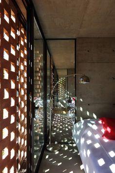 Gallery of Experimental Brick Pavilion / Estudio Botteri-Connell - 21 brick / tijolo /… - Brick Architecture, Architecture Details, Brick Facade, Brick Wall, Pavillion, Brick Paneling, Brick Design, Small Buildings, Hotel Interiors
