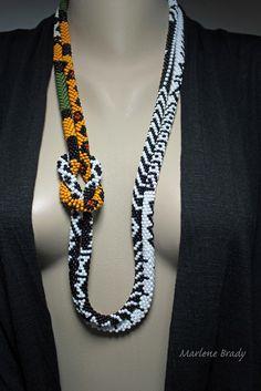 """Marlene Brady. """"Wearing Bead Crochet Ropes"""""""
