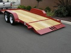 An affordable tilt trailer that saves your back. Tilt Trailer, Car Trailer, Equipment Trailers, Steel Deck, Dump Trailers, Compact Tractors, Landscape Materials, Small Farm, Heavy Equipment