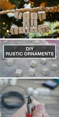 Create your own rustic chic, wood-block ornaments this holiday season! Get the step-by-step tutorial here.