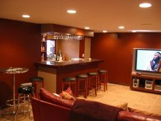 Finish The Basement With Full Wet Bar, Entertainment Center, And Bathroom  With Shower.