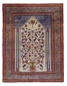 Tabriz silk rug, Northwest Persia approximately 189 by 145cm; 6ft. 2in., 4ft. 9in. circa 1890