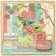 Awaiting Spring Digital Scrapbooking kit by Mulberry Lane Papers