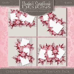 Ilonka's Scrapbook Designs: Cherish The Moment Template Pack by Ilonka's Scrapbook Designs