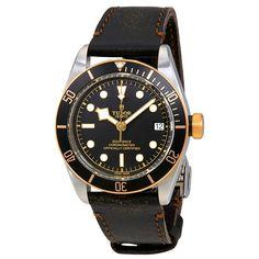 TUDOR Heritage Black Bay Automatic Men's Aged Leather Watch from jomashop.com.  #promoted#tudor