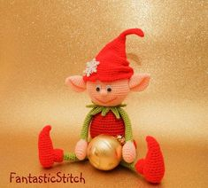 Crochet pattern Christmas elf Amigurumi Instand Download PDF image 2