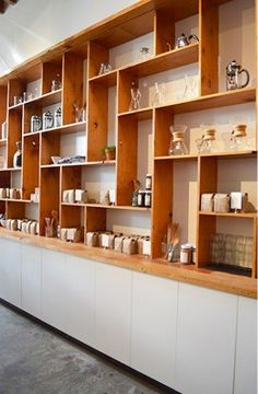 Can be built using Ikea thin wall boards… Just thick enough for drinks. But no… Can be built using Ikea thin wall boards… Just thick. Ikea Organization, Ikea Storage, Storage Shelves, Wall Shelves, Storage Ideas, Office Storage, Shelving Ideas, Office Shelving, Shelf Ideas