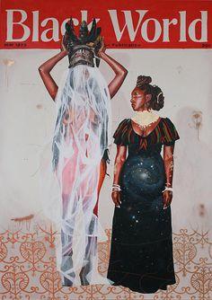 FAHAMU PECOU http://www.widewalls.ch/artist/fahamu-pecou/ #drawing #illustration #neo-pop #painting #performanceart #photorealism #videoart