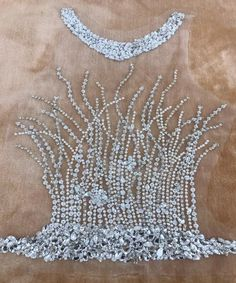 handmade silver sew on silver hinestones applique on mesh peal crystals trim patches for wedding dress accessories Bead Embroidery Patterns, Tambour Embroidery, Couture Embroidery, Embroidery Fashion, Hand Embroidery Designs, Embroidery Dress, Tambour Beading, Wedding Dress Accessories, Hair Accessories