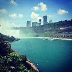 View of #canada from the #americanfalls at #niagarafalls #ig_best_shots_canada
