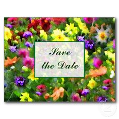 Floral Impressions Save the Date Post Card