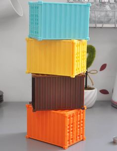 Shipping Container Piggy Bank