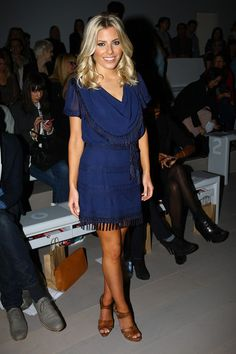 Navy dress with brown or tan shoes heels