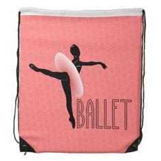 Ballet Attitude Drawstring Backpack