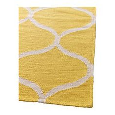 STOCKHOLM Rug, flatwoven IKEA The durable, soil-resistant wool surface makes this rug perfect in your living room or under your dining table. Ikea Design, Home Design, Diy Design, Ikea Stockholm Rug, Diy Projects Love, Ikea Yellow, Deck Makeover, Big Rugs, Light Grey Walls