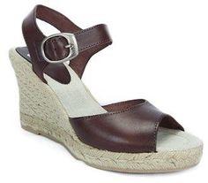 SKA Betty V7n Chocolate Brown Espadrille Strapy Wedge Sandals.