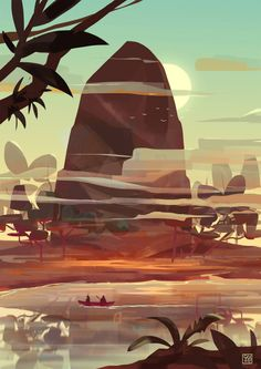 The Art Of Animation color style landscape